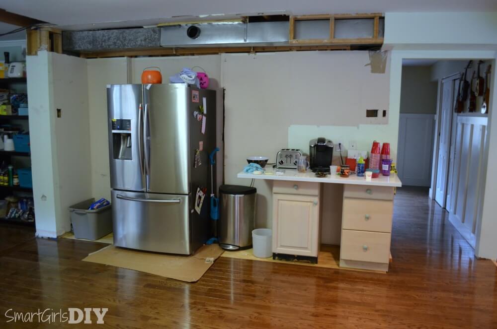 DIY kitchen remodel progress
