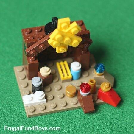 Lego Nativity Ornament from Frugal Fun 4 Boys