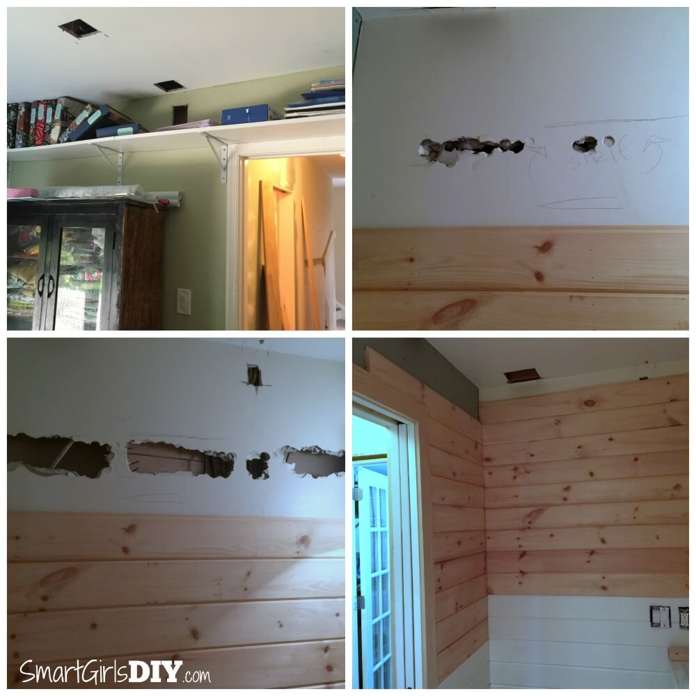 Reinforcing wall for bookshelf on other side
