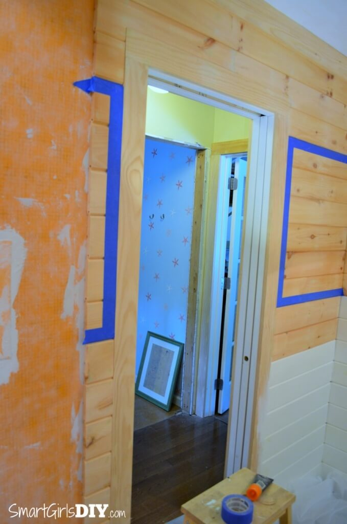 Taping off planked walls