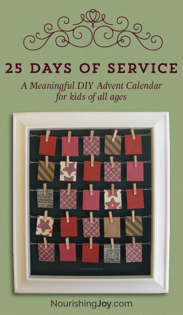 25 days of service advent calendar