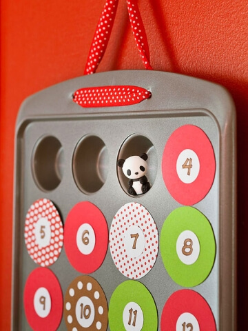 Advent Calendar in a cookie tin by Parents Magazine