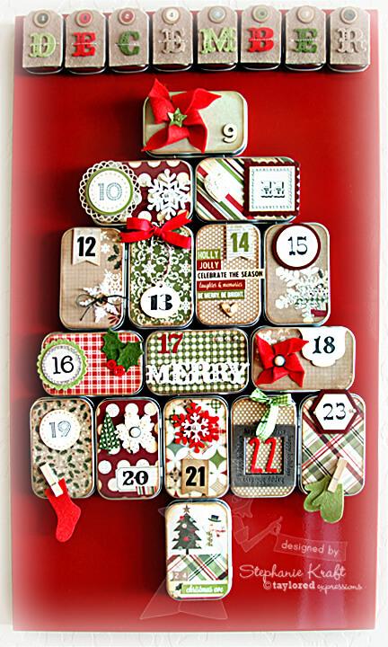 Altoid container advent calendar