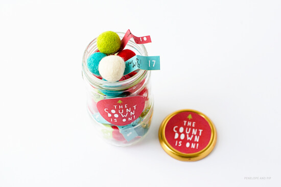 DIY Advent in a Jar by Penelope and Pip
