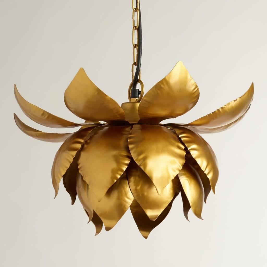 Gold Lotus Hanging Pendant from World Market