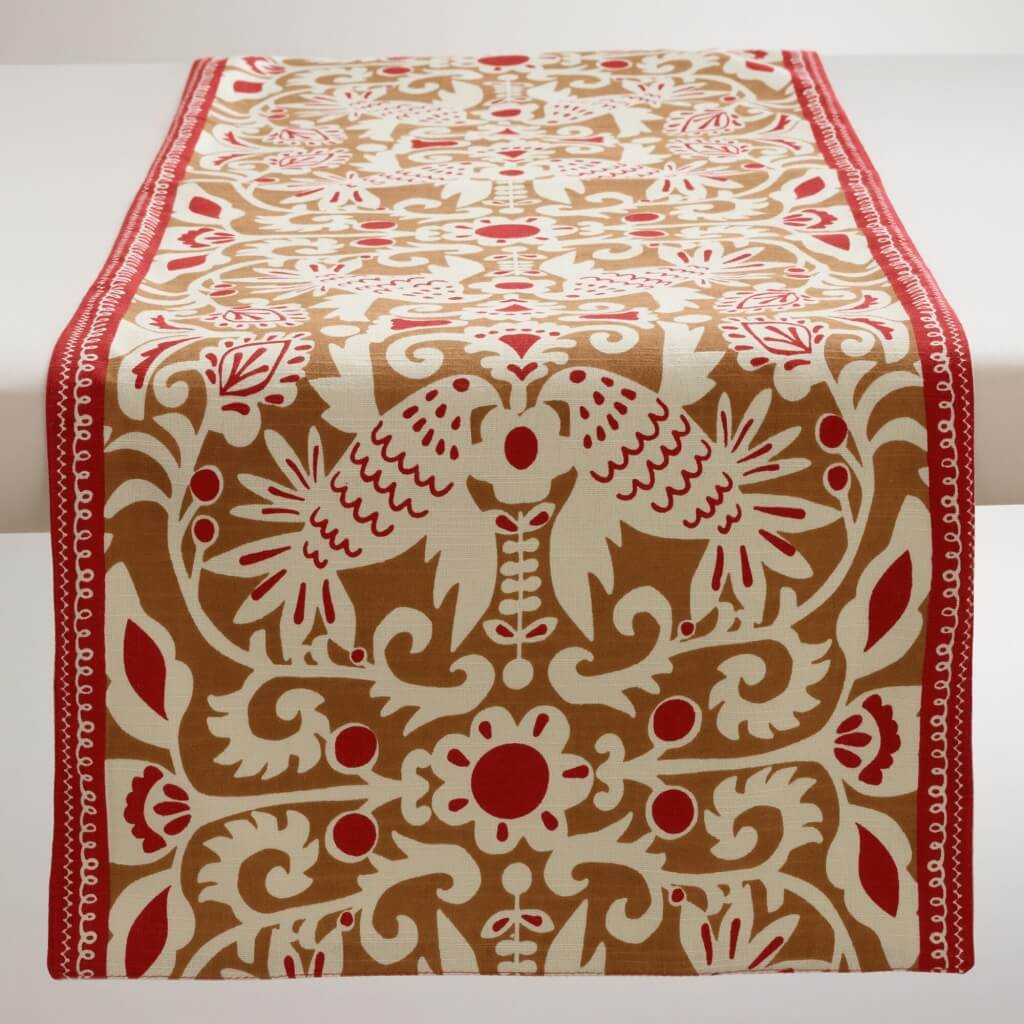 Golden-Brown and Red table runner from World Market
