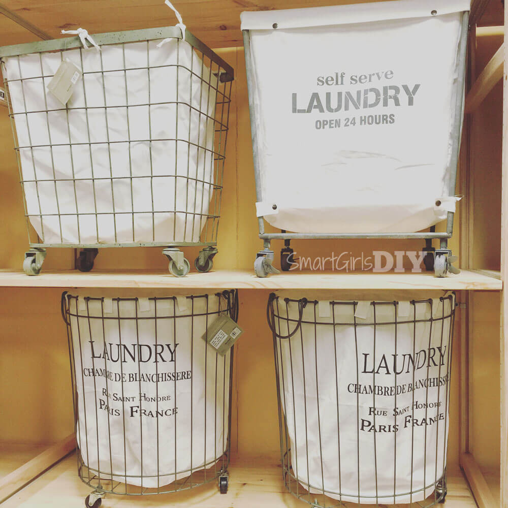 Laundry baskets on wheels from Cost Plus World Market Shrewsbury