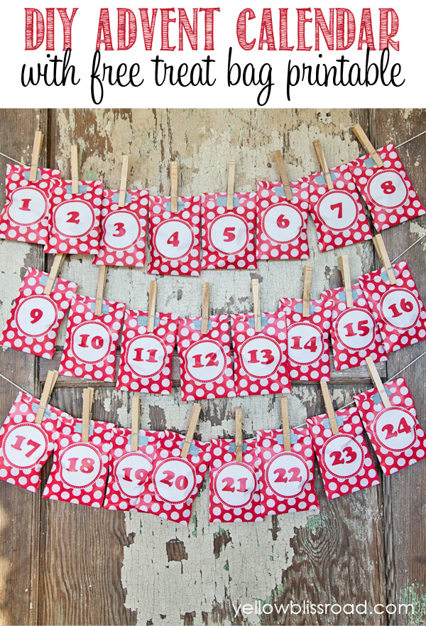 Make your own DIY advent calendar with these free printables