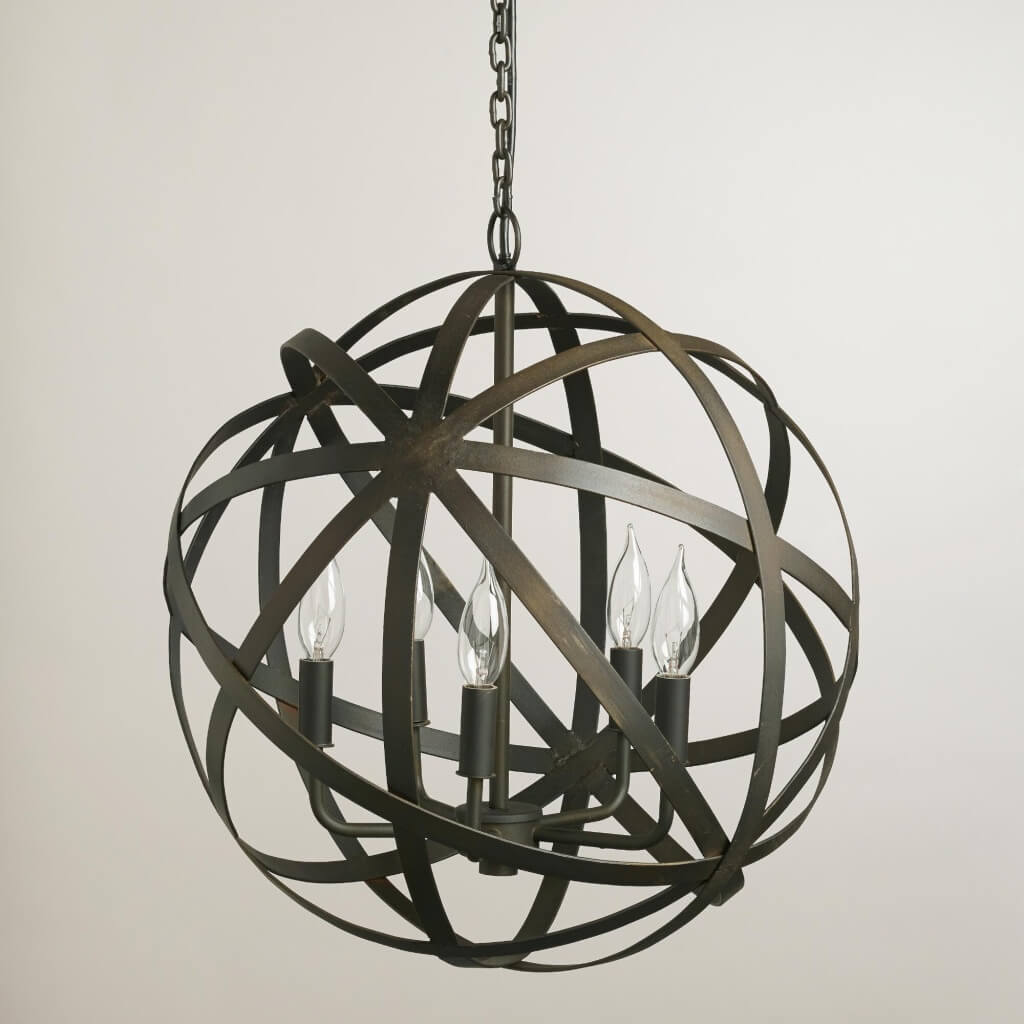 Metal Orb Chandelier from World Market