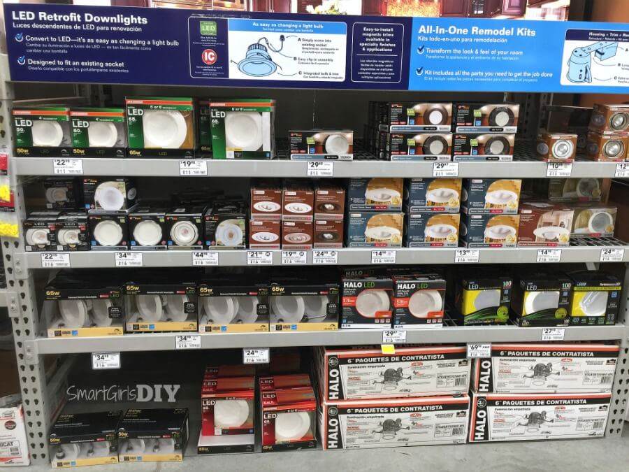LED Retrofit downlights available at Lowe's
