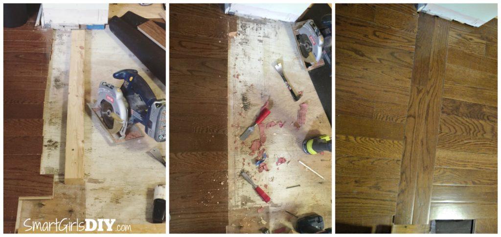 Hardwood floor DIY transition