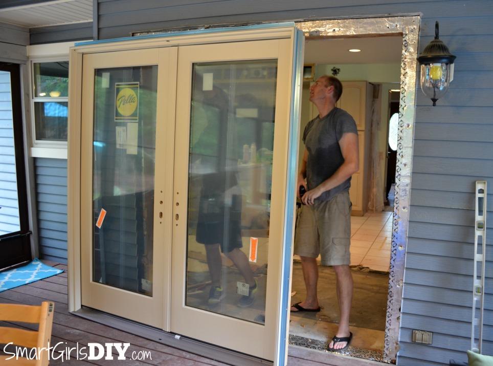 Installing Pella patio doors - the test fit