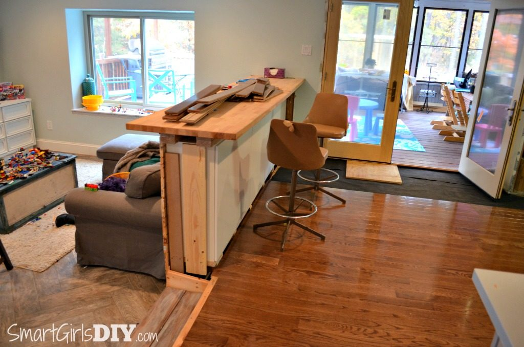 Kitchen and family room DIY renovations