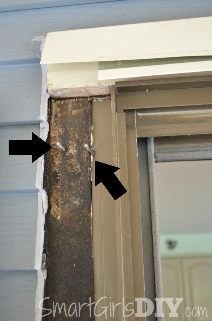 Remove nails from door frame