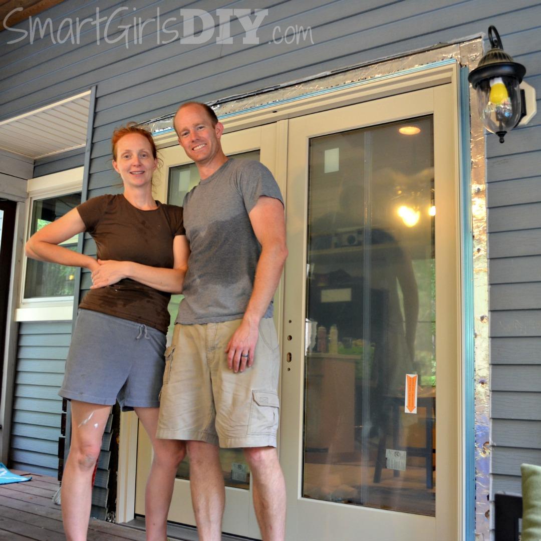 Smart Girl and Hubby install Pella patio doors