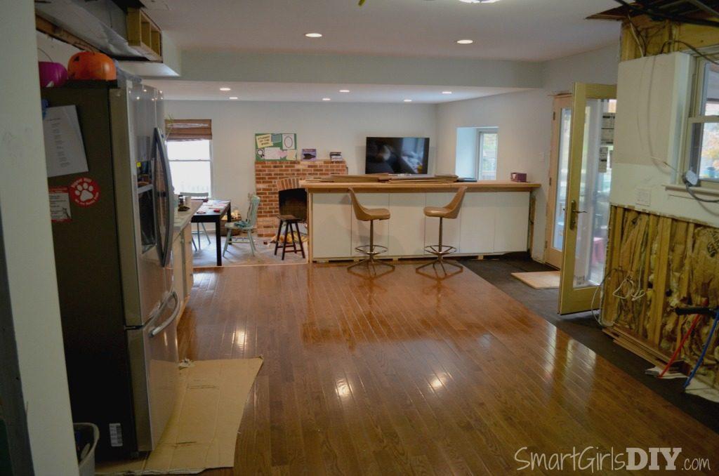 Unfinished kitchen remodel