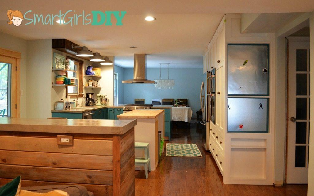 Smart Girls DIY almost finished kitchen remodel