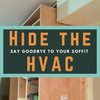 How to Customize Kitchen Cabinets to Hide the HVAC