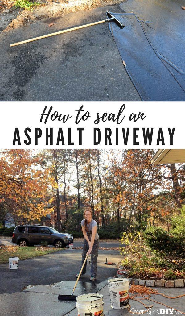 How to seal an asphalt driveway - Smart Girls DIY